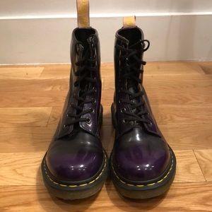 DR. MARTENS  Purple Vegan Leather Boots 💜